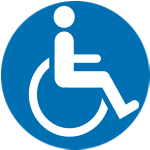 indicates a wheelchair seats